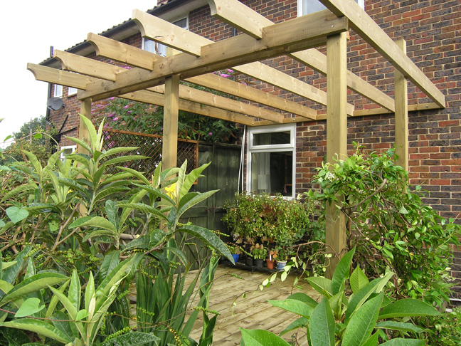 August 2006 - the top deck and pergola